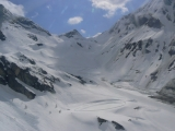 The view of the Hintertux ski area from the half way point