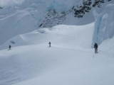 Sking through seracs on the Tasman Glacier